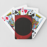 Glowing Red Corona Bicycle Playing Cards