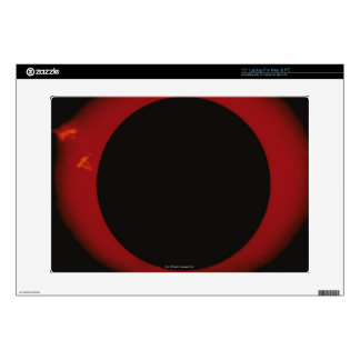 Glowing Red Corona Laptop Decals