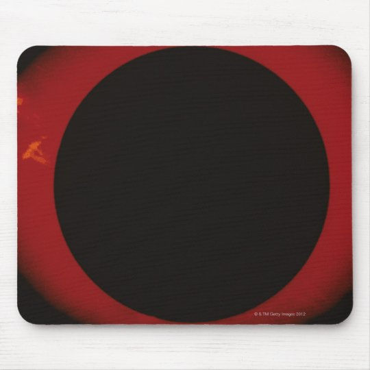 Glowing Red Corona Mouse Pad
