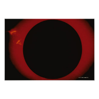 Glowing Red Corona Poster