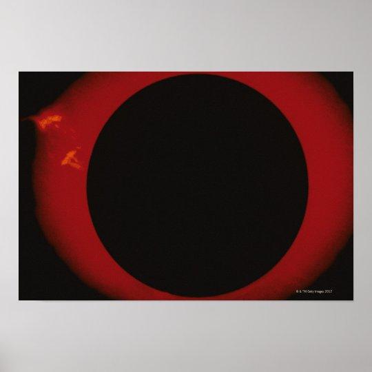 Glowing Red Corona Poster