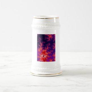 Glowing Red Fractal Beer Stein
