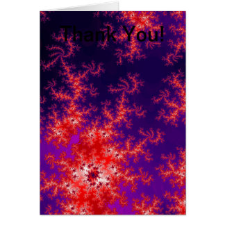Glowing Red Fractal Card