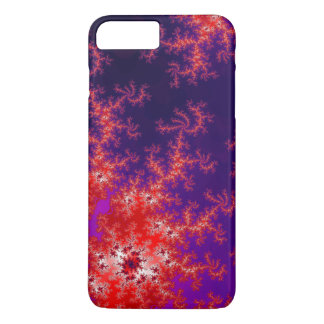 Glowing Red Fractal iPhone 8 Plus/7 Plus Case