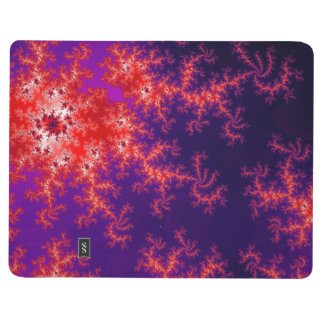Glowing Red Fractal Journal