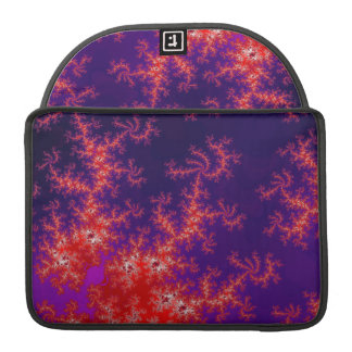 Glowing Red Fractal Sleeve For MacBooks