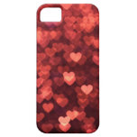 glowing red hearts iPhone 5 cases
