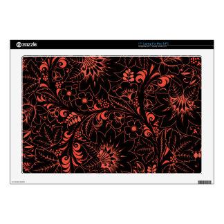 """Glowing Red Hohloma 17"""" Laptop Skin"""