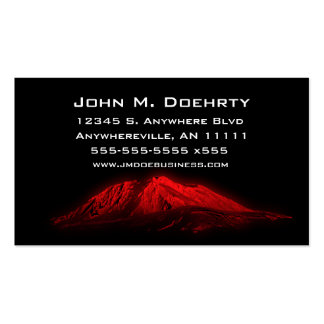 Glowing Red Mount Saint Helens Business Card