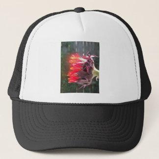Glowing Red Sunflower Trucker Hat
