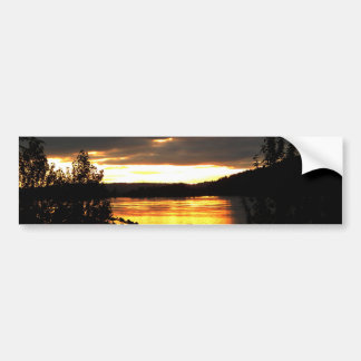 Glowing River Bumper Sticker