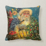 Glowing Santa / New Year too! Pillow