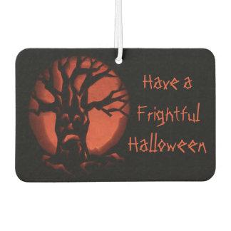 Glowing Scared Dead Tree Halloween Pumpkin Car Air Freshener