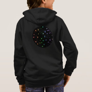 Glowing Shiny Rainbow Stars In Space Hoodie