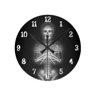 Glowing Skeleton: Wall Clock