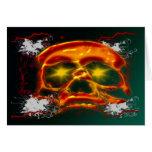 Glowing Skull Card