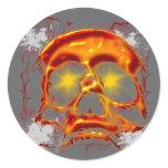 Glowing Skull Classic Round Sticker