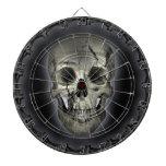 Glowing Skull Goth Metal Dartboard