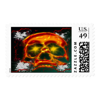 Glowing Skull Postage