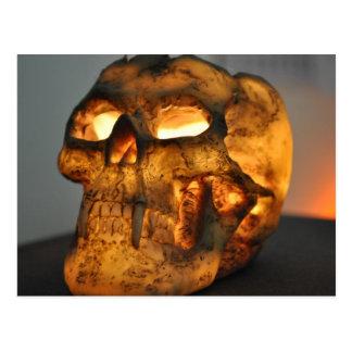 Glowing Skull Postcard