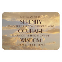 Glowing Sky Serenity Prayer Flexi Magnet