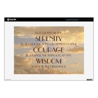 """Glowing Sky Serenity Prayer Skin Decal For 15"""" Laptop"""