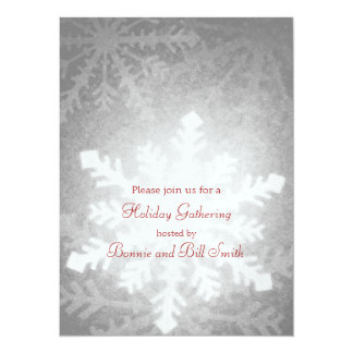 Glowing Snowflake Holiday Gathering Card