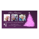 Glowing Snowflake Tree Photocard (eggplant) Customized Photo Card