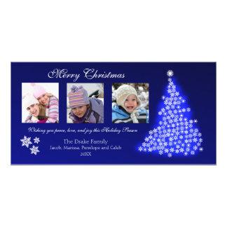 Glowing Snowflake Tree Photocard (sapphire) Photo Card
