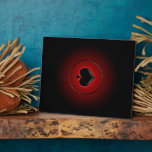 Glowing spade card suit photo plaque