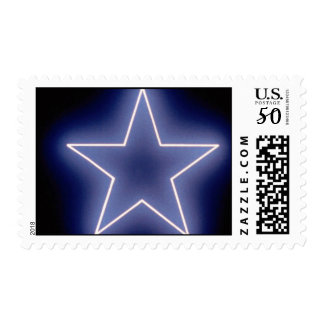 Glowing sparkle star postage