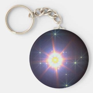 Glowing star angels key chains