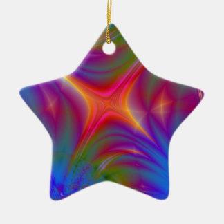 Glowing Star Ceramic Ornament
