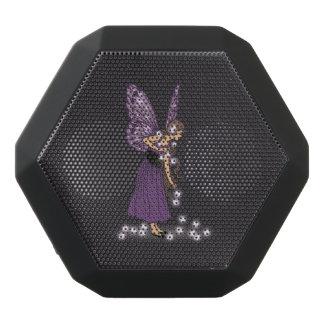 Glowing Star Flowers Pretty Purple Fairy Girl Black Bluetooth Speaker