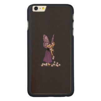 Glowing Star Flowers Pretty Purple Fairy Girl Carved® Maple iPhone 6 Plus Slim Case