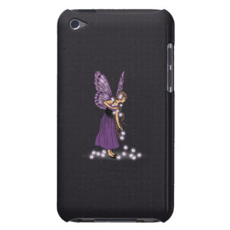 Glowing Star Flowers Pretty Purple Fairy Girl Case-Mate iPod Touch Case