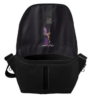 Glowing Star Flowers Pretty Purple Fairy Girl Courier Bag
