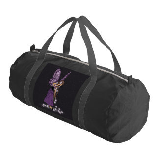 Glowing Star Flowers Pretty Purple Fairy Girl Duffle Bag