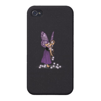 Glowing Star Flowers Pretty Purple Fairy Girl iPhone 4/4S Covers