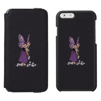 Glowing Star Flowers Pretty Purple Fairy Girl iPhone 6/6s Wallet Case