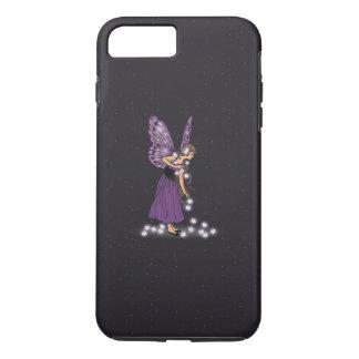 Glowing Star Flowers Pretty Purple Fairy Girl iPhone 8 Plus/7 Plus Case