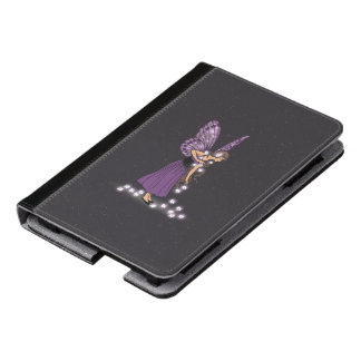 Glowing Star Flowers Pretty Purple Fairy Girl Kindle Case