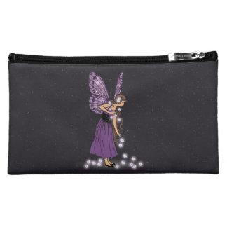 Glowing Star Flowers Pretty Purple Fairy Girl Makeup Bag