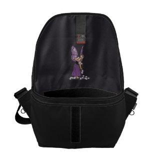 Glowing Star Flowers Pretty Purple Fairy Girl Messenger Bag