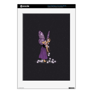 Glowing Star Flowers Pretty Purple Fairy Girl PS3 Decal