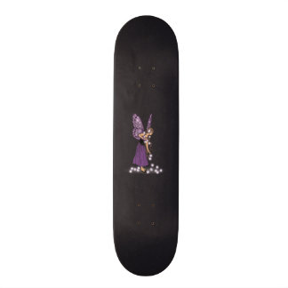 Glowing Star Flowers Pretty Purple Fairy Girl Skateboard