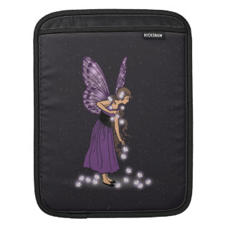Glowing Star Flowers Pretty Purple Fairy Girl Sleeves For iPads