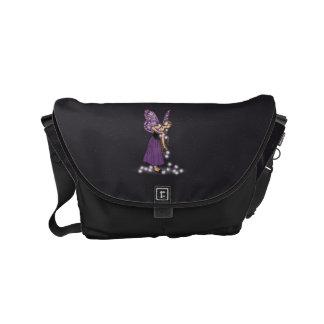 Glowing Star Flowers Pretty Purple Fairy Girl Small Messenger Bag