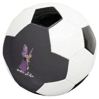 Glowing Star Flowers Pretty Purple Fairy Girl Soccer Ball