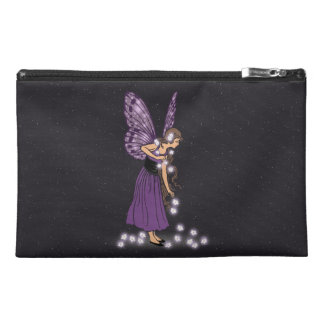 Glowing Star Flowers Pretty Purple Fairy Girl Travel Accessories Bag